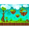 Green Land Game Layer Design vector image