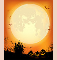 halloween background with scary dracula castle vector image vector image