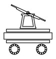 handcar icon black color flat style simple image vector image vector image