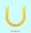 horseshoe set it is color icon vector image
