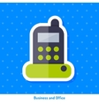 Icon of stationary phone vector image vector image