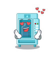 in love water vending machine isolated cartoon vector image vector image