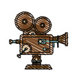 isolated retro video camera design vector image