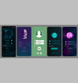 login screens for mobile app vector image