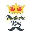 mustache slogan for apparel design vector image