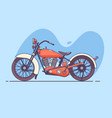 old vintage motorcycle red vector image vector image
