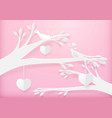 paper art cute heart shape mobile hanging vector image vector image