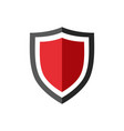 protection shield icon with red center vector image