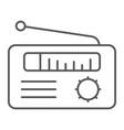 radio receiver thin line icon media and broadcast vector image