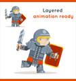 roman praetorian guard legionare warrior fantasy vector image