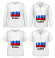 Russia shirts vector image vector image