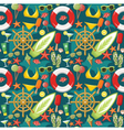 Seamless beach pattern vector image