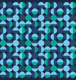 seamless geometric pattern with circles and vector image vector image