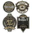 set of 4 labels or badges for packing vector image
