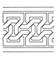 simple moorish interlacement band is a antic vector image vector image