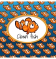 Small clown fish card texture gradient vector image vector image