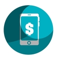 smartphone device with finance app isolated icon vector image vector image