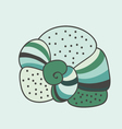 Soft green abstract seashell vector image