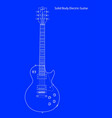 solid body electric guitar blueprint vector image vector image