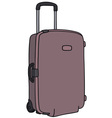 Suitcase on wheels vector image