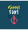 Summer Fun Lettering vector image vector image