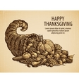 Thanksgiving day Holiday greeting card Vintage vector image vector image
