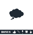 Thought bubble icon flat vector image vector image
