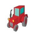 Tractor cartoon icon vector image vector image