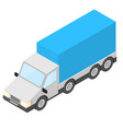 truck isometric vector image vector image