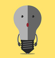 Turned off lightbulb character vector image