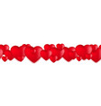 valentines day hearts love balloons on white vector image vector image