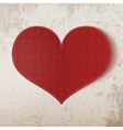 Valentines Day realistic big red Heart vector image