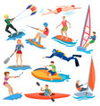 water sport people in extreme activity or vector image vector image