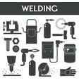 welding equipment banner template with welder vector image