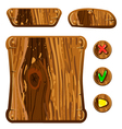 wooden game assets-2 vector image vector image