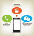 you use your phone for what purpose infographic vector image vector image