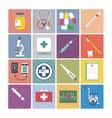 Flat design icon set - Medical vector image