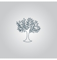 Decorative simple tree vector image