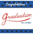 Graduation template Party Congrats vector image