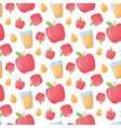 apple juice flat style seamless pattern vector image vector image