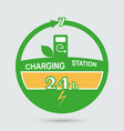 auto charging station emblem vector image vector image