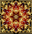 background with a rosette of gold and precious vector image vector image