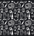 beer seamless pattern vector image vector image