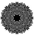 black round ornament vector image