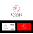 business card of sports with red and white theme vector image