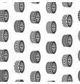 cartoon silhouette tire or wheel seamless pattern vector image vector image