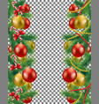 christmas border set vector image