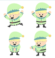Christmas Elves and different poses vector image vector image