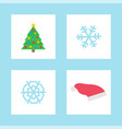 christmas snowflake party paper decoration vector image vector image