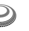 circle tire tracks silhouette vector image vector image